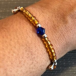 Jewelry - Yellow & Blue Translucent Handmade Bracelet